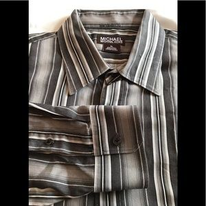 MICHAEL Michael Kors Button Shirt Stripes Size XL